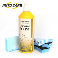 500ML 9H Car Polish Liquid Nano Ceramic Glass Coating Hydrophobic Polishing Kit