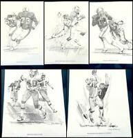 NFL 1981 Shell Football Poster Boston NE Patriots Set 5 Galloway Signed Prints