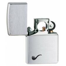 Brushed Chrome Pipe Zippo Lighter - 200pl