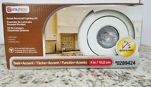 "Utilitech 4"" Swivel Recessed Lighting Kit 289424 New In Box"