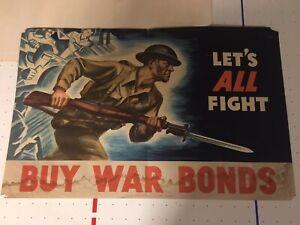 1942 WW2 War Bond Poster
