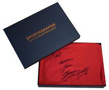 Tommy Docherty SIGNED Autograph Shirt Manchester United Scoredraw COA Gift Box