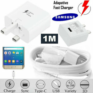 GENUINE Fast Charger Plug + Cable SAMSUNG GALAXY S4 S6 S7 Edge Note 4, Note 5