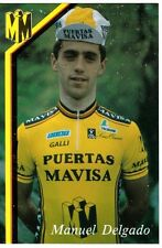 CYCLISME carte cycliste MANUEL DELGADO équipe PUERTAS MAVISA