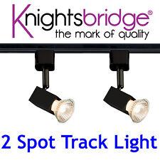Knightsbridge 1m 1 Mètre 2 Point Simple Circuit éclairage sur rail LED spot