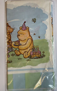 Classic Winnie The Pooh Birthday Table Cover DISNEY/ HALLMARK -  NEW