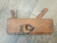 Antique Wood Moulding Plane Double Blade Woodworking Hand Tools