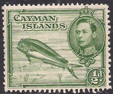 Cayman Islands 1938 - 48 KGV1 1/2d Green Dolphin fish Umm SG 116 ( H740 )