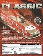 JIM EPLER 2001 CLASSIC SS CHEVY Drag/Racing Funny Car RACING CHAMPION AD/POSTCD