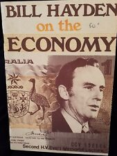 Bill Hayden On The Economy 1977 Original Publication Labor Politics Australian