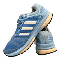 Adidas Revenge Boost Women's Shoes Size Uk 4 Blue Sports Running Trainers EUR 36