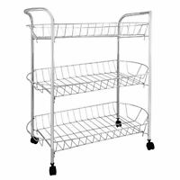New 3 Tier Kitchen Trolley Fruits Vegetables Storage Portable Home Rack