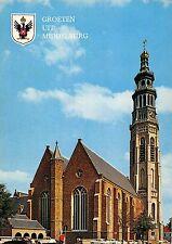 Netherlands Groeten uit Middelburg, Lange Jan met nieuwe kerk, kirche church