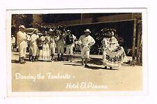 Hotel El Panama Dancing The Tamborito Panama Real Photo Postcard Unused 1950s
