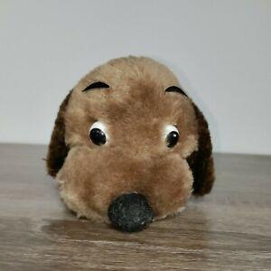 "Vintage 6"" Dakin BROWN DROOPER DOG plush stuffed nutshells 1973 Puppy Lay"