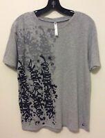 FABLETICS Women's T-Shirt Athletic Wear Short Sleeve Cotton Top SZ Medium Gray