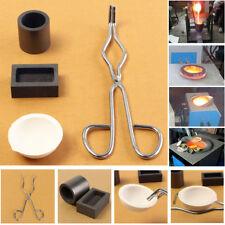 4x Graphite Crucible Tongs Smelting Bowl Furnace Casting Foundry Melting Tool