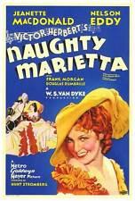 NAUGHTY MARIETTA Movie POSTER 27x40 Jeanette MacDonald Nelson Eddy Frank Morgan