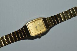 SEIKO Watch 2YO1-5D20 Ladies Quartz Rectangular Case Japan Vintage Used Works