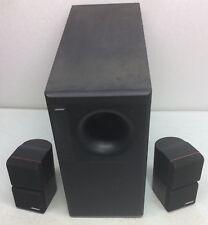 Bose Acoustimass 5 Series II Home Audio System W/ 2 Redline Black Cube Speakers