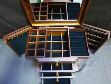 Extra Large Wooden Jewelry Box / Jewel Case Cabinet Armoire Ring (AD370)