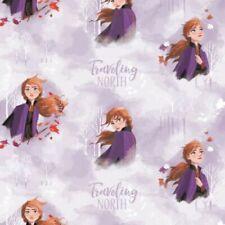 Disney Frozen 2 - Anna Watercolour Lilac - 100% Cotton Fabric Metre/Fat Quarter