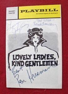 "1970 ""LOVELY LADIES, KIND GENTLEMEN"" PLAYBILL PROGRAM SIGNED BY RON HUSMANN + 2"