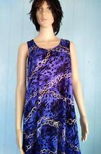 Jostar blue chain animal print poly spandex slinky tank dress wrinkle free L