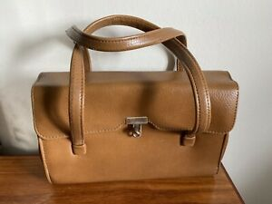 1960s Retro Vintage Weymouth American JR Tan Brown Handbag (B11)
