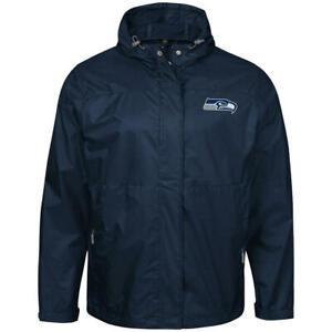 NFL Seattle Seahawks Men's Full-Zip Hoodie Winter Quikted Jacket - XL Blue