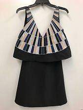 $159 Mara Hoffman Mini Black Embroided Dress Size 2