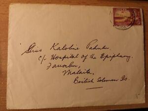 Südsee,TONGA: Bedarfsbrief NUKUALOFA nach Malaita, British Salomon islands1963