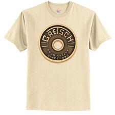Gretsch Logo T-Shirt - Beige Roundbadge Drum - XX-Large