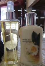 BATH AND BODY WORKS WHITE TEA AND GINGER BODY LOTION AND MIST CLASSIC BOTTLE