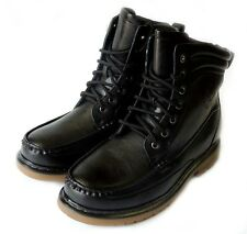 NEW MENS MILITARY COMBAT STYLE ANKLE BOOTS RUGGED LEATHER LINED SHOES LACE UP