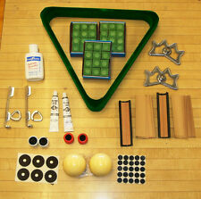 Lot of Pool Billiard Items 3 Dozen  Green Chalk Crazy and Regular Cue Ball +MORE