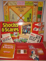 RARE VINTAGE SHOCKS AND SCARES GIBSONS BOARD GAME C.1983 COMPLETE VGC