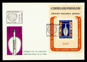 DR WHO 1964 PARAGUAY FDC SPACE CACHET S/S  g21892