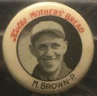 1922 MYRL BROWN - PITCHER PITTSBURGH PIRATES KOLB's MOTHER'S BREAD PIN PINBACK