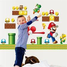 Super Mario Bro Removable Wall Stickers Decals Kids Boy Nursery Decor Art