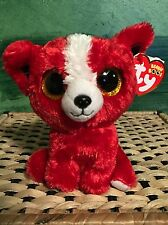 "69410fc8362 Ty TOMATO -Red White Chihuahua Dog 6"" Beanie Boo  Retired Exclusive"