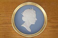 Wedgwood Light Blue Jasper Ware HRM Queen Elizabeth II 60th Birthday Plaque