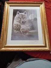 Wildlife Wolf and Pups Print Large Ruane Manning Signed?