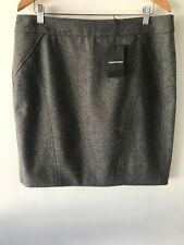 [CR LOVE] SZ XL (16) NEW! COUNTRY ROAD PANELLED SKIRT - WOOL GREY With Tags
