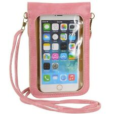 Pink Crossbody Shoulder Bag Cellphone Pouch Case for iPhone 6 Plus LG G4 G3