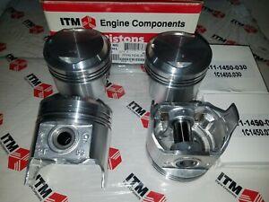 Toyota Corolla 2TC 1600cc 78-79 8.5-1 Compression 4-Pistons Set w/Rings + .030