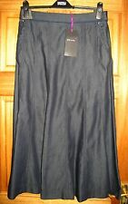 Ladies  Blue Denim Skirt from PER UNA  M&S Size 8 - Length 36 inches RRP £45