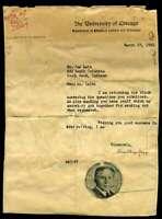 Amos Alonzo Stagg Psa Dna Coa Signed 1930 Univ Chicago Letter Autograph