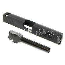 Airsoft APS Metal Slide with Barrel For ACP601 Tokyo Marui G17 GBB Pistol Black