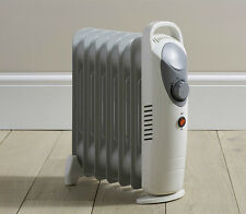 Daewoo Home Work White 800W Portable Oil Filled Radiator Heater with Thermostat